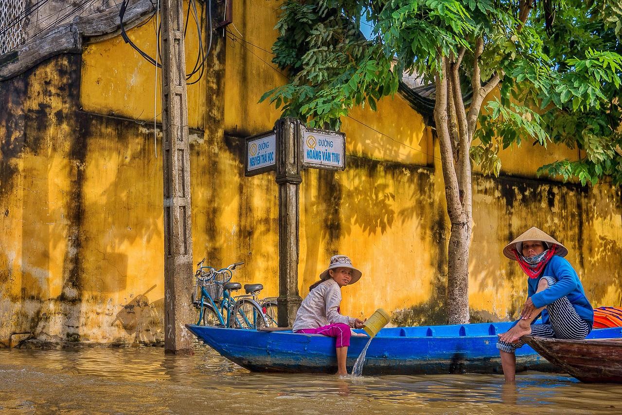 Flooding in Hoi An, Vietnam.