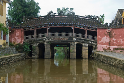 The roofed foot bridge in Hoi An, Vietnam