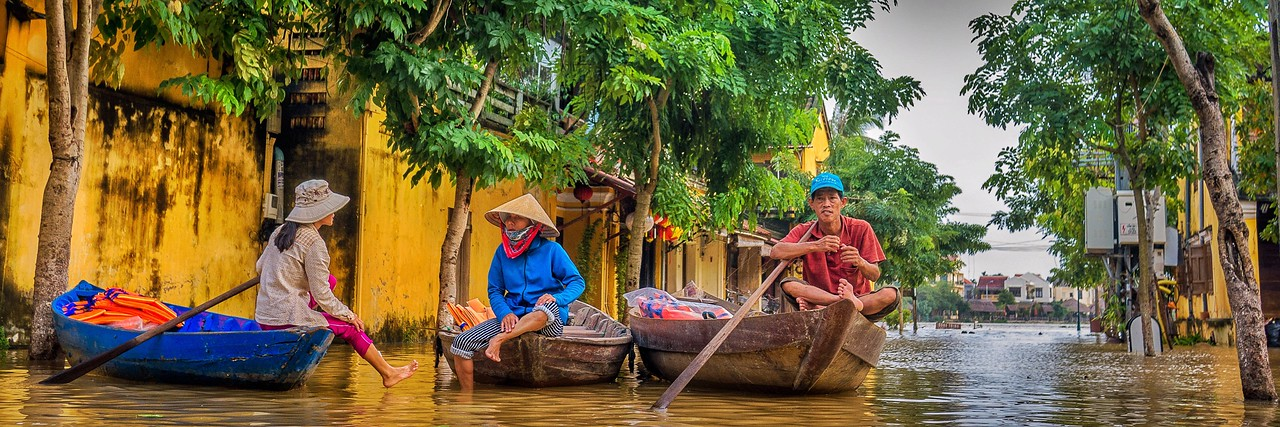 Flooding in Hoi An, Vietnam.