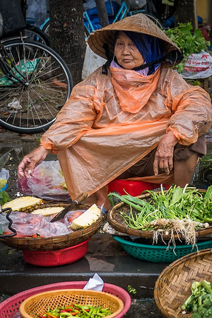 A vendor in Hoi An, Vietnam.