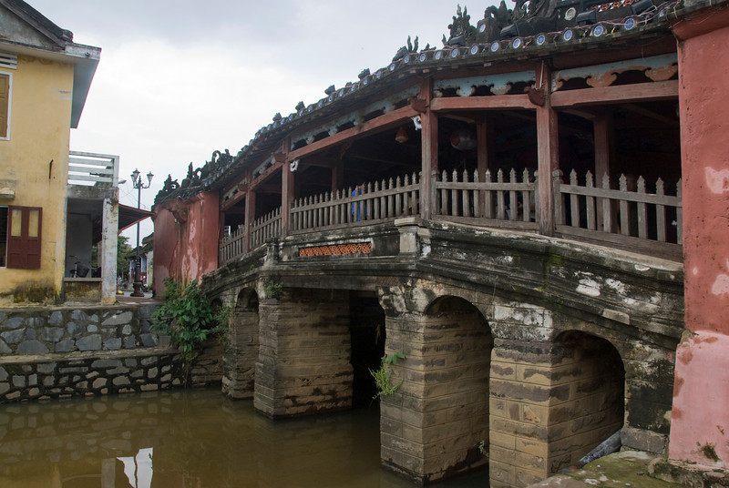 Closer view of the foot bridge in Hoi An, Vietnam
