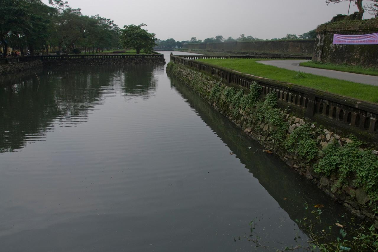 The moat in Hue, Vietnam