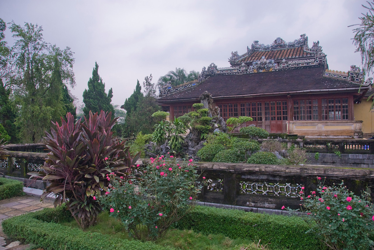 Beautiful garden inside the Royal Grounds - Hue, Vietnam