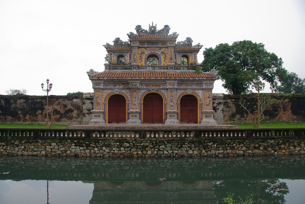 Close rshot of the Royal Gate in Hue, Vietnam