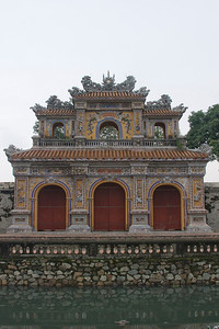 The facade of Royal Gate in Hue, Vietnam