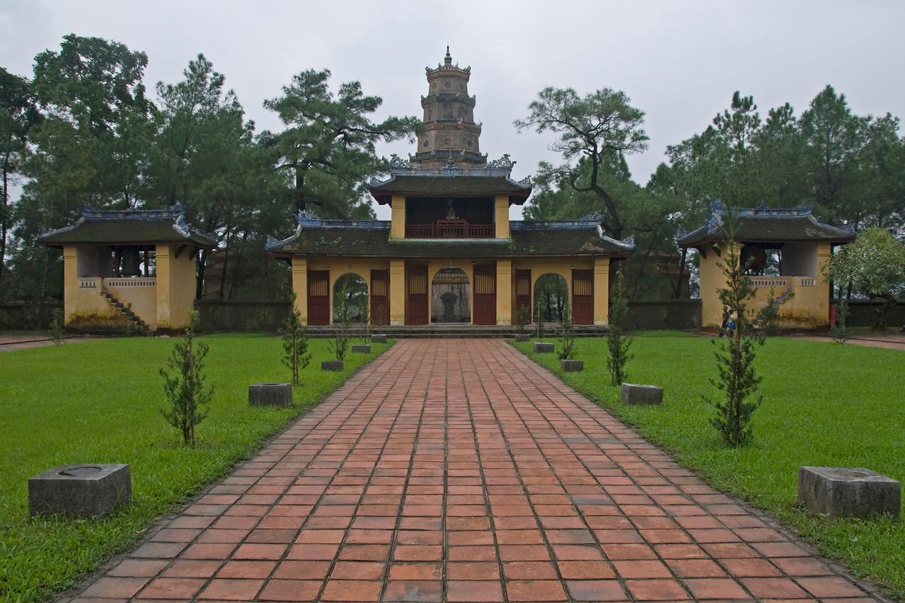 Concrete path to Thien Mu Pagoda - Hue, Vietnam
