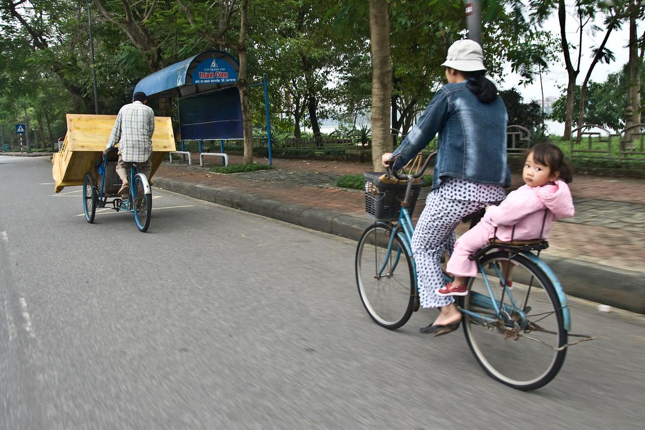 Girl on the back of the bike - Hue, Vietnam