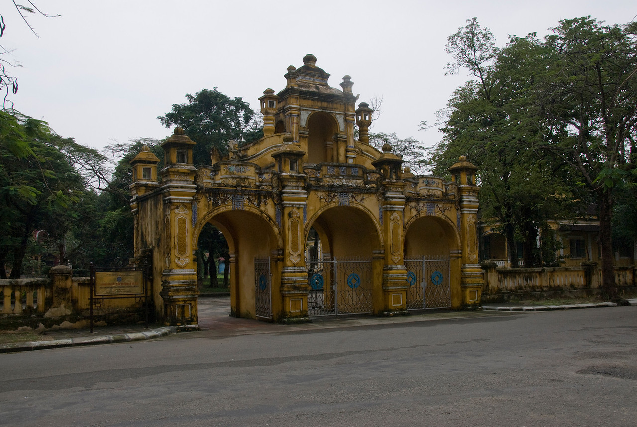Elaborate gate structure in Hue, Vietnam