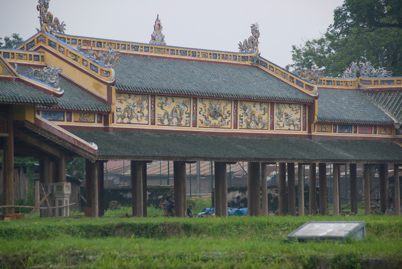 Temple inside the Royal Grounds - Hue, Vietnam