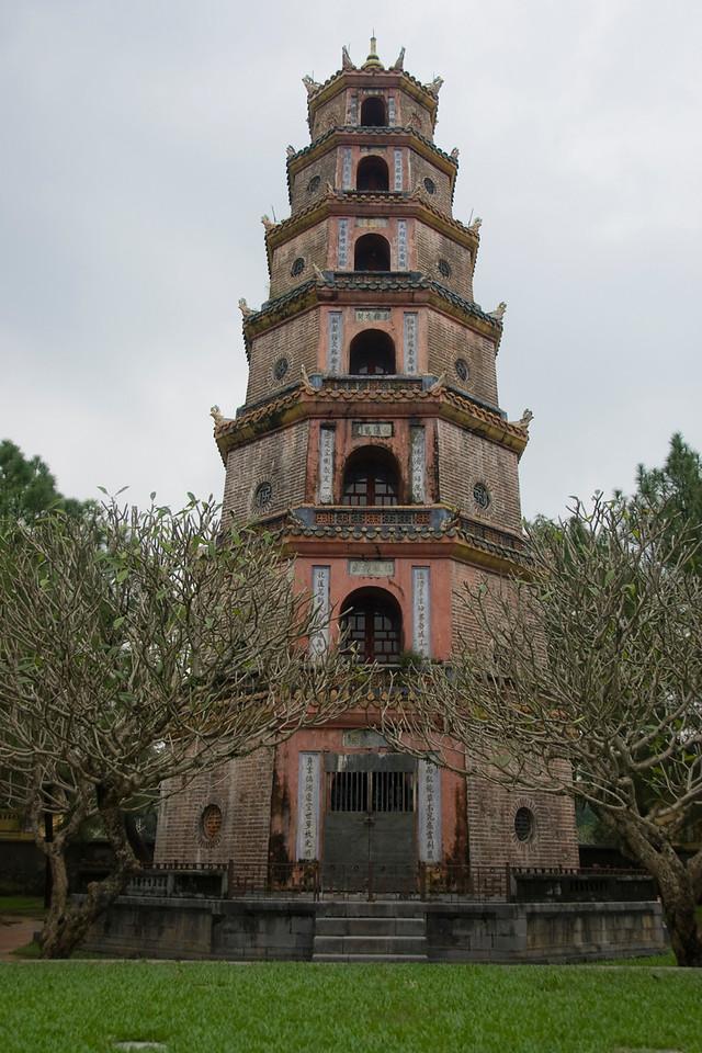 The Thien Mu Pagoda facade - Hue, Vietnam