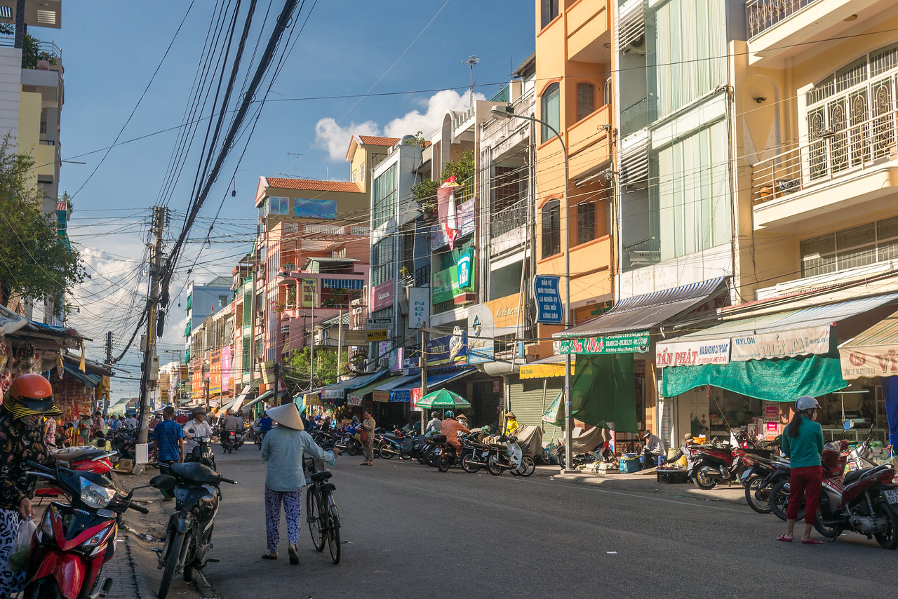 In the Vinh Long, a French colonial town in Vietnam's Mekong River Delta.