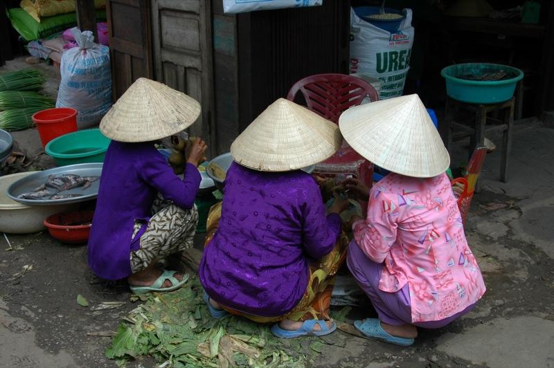 Chatting Women - Mekong Delta, Vietnam