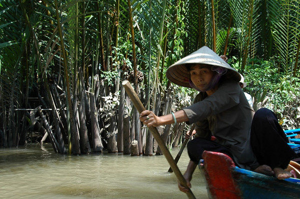 Rowing - Mekong Delta, Vietnam