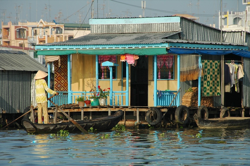 Floating House - Chau Doc, Vietnam