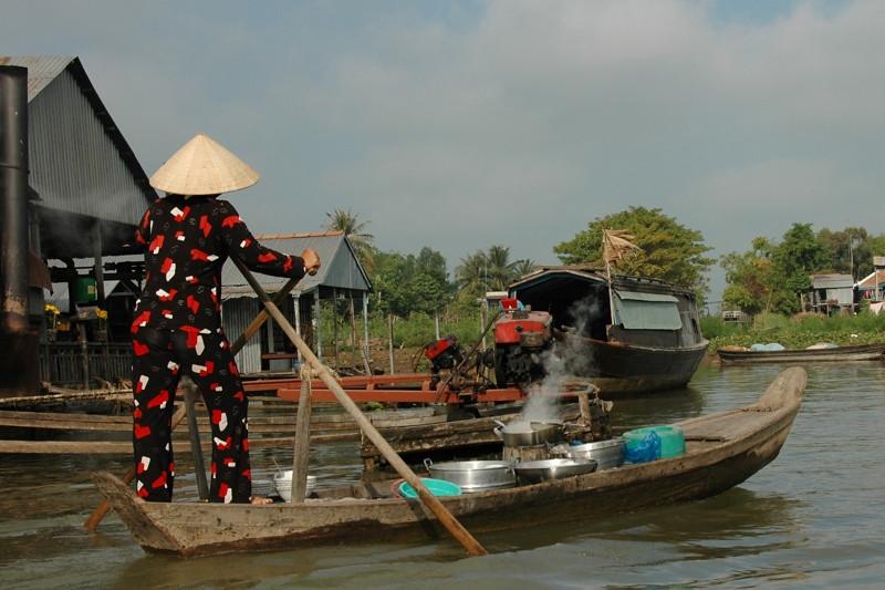 Boat with Soup - Chau Doc, Vietnam