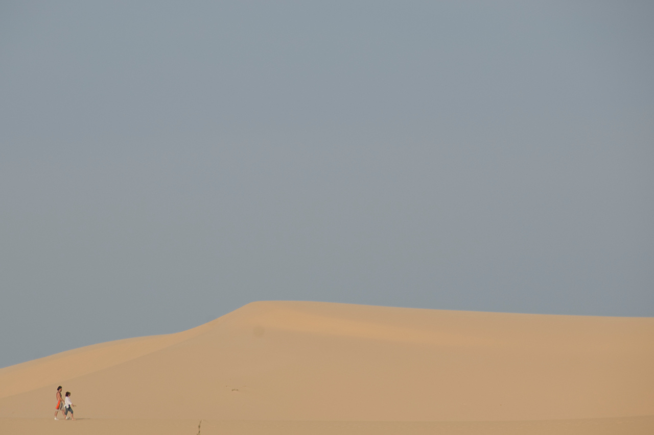 Clear sky over the white sand dunes - Mui Ne, Vietnam