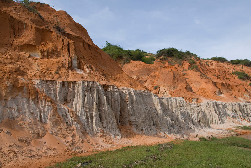 Eroding sand and cliffs in Mui Ne, Vietnam