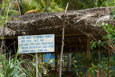 Refreshment sign in Mui Ne, Vietnam