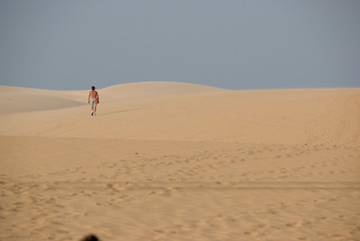 Landscape shot of the white sand dunes - Mui Ne, Vietnam