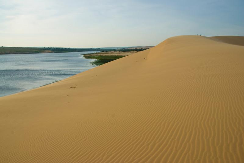 Beautiful view of the sand dunes and stream in Mui Ne, Vietnam