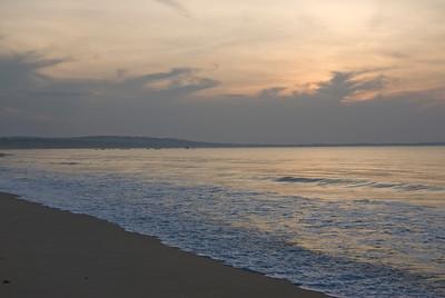 Beautiful sunrise on the beach - Mui Ne, Vietnam