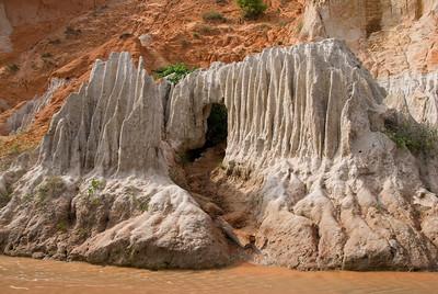 Unique natural cave formation from sand erosion - Mui Ne, Vietnam
