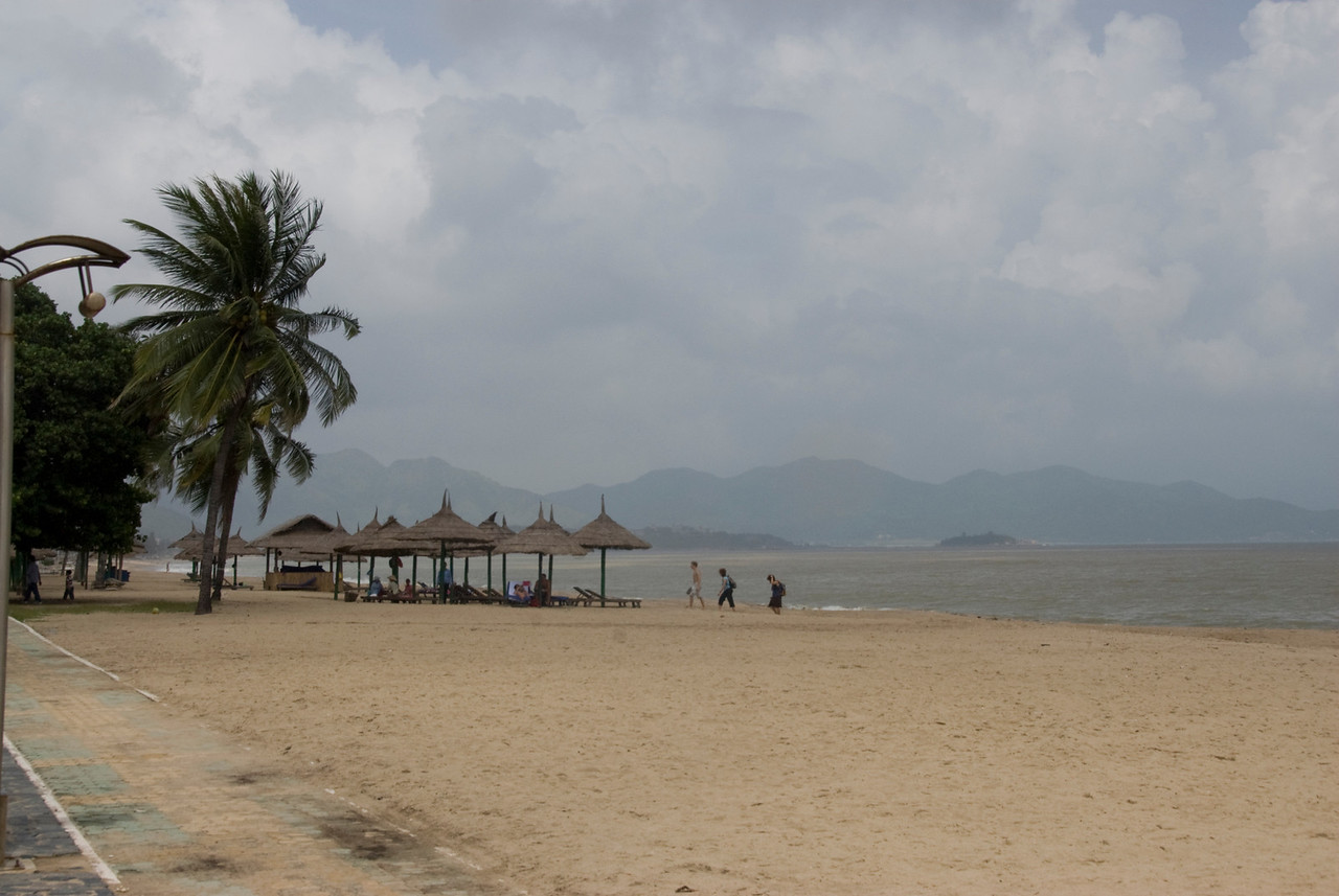 Beautiful beach on stormy day - Nha Trang, Vietnam