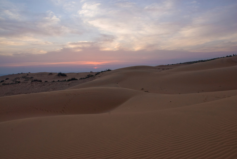 White sand dunes during sunset - Mui Ne, Vietnam