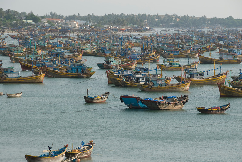 More boats at the fishing village - Mui Ne, Vietnam