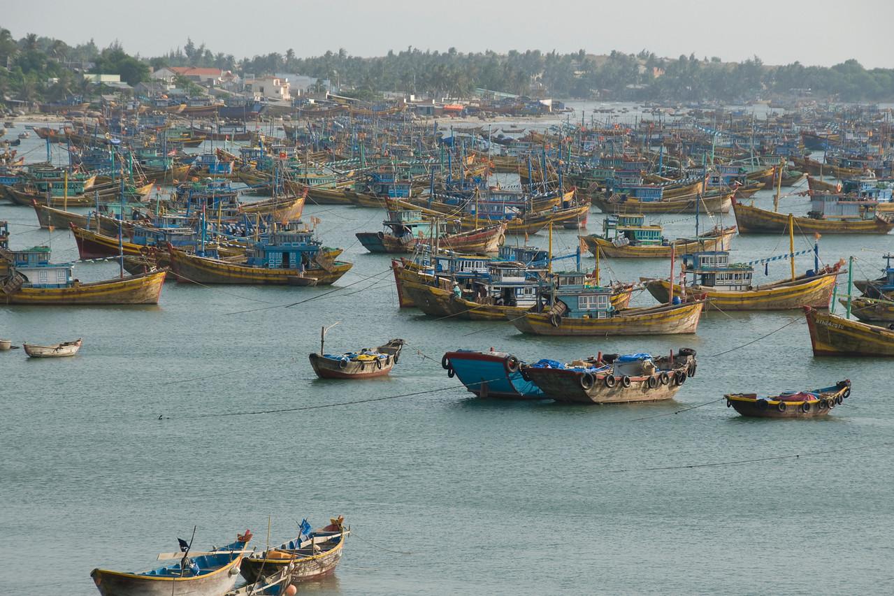 More boats at the fishing village - Mui Ne, Vietnam