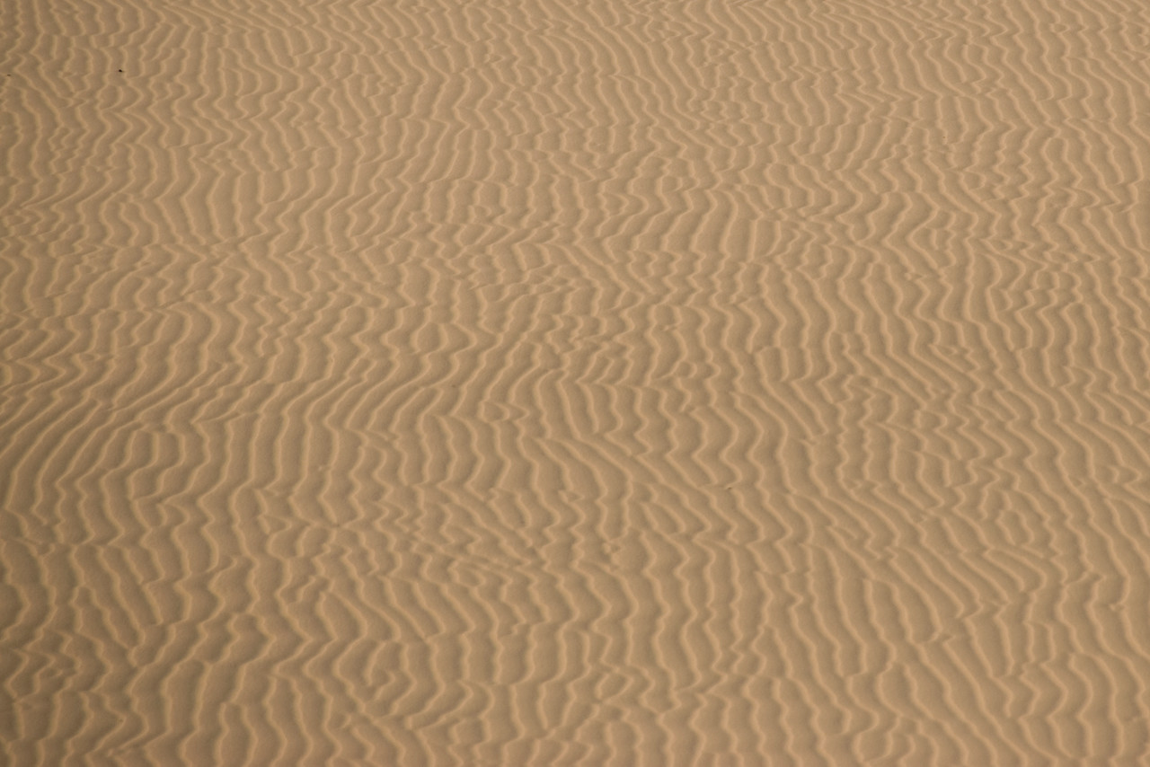 Close-up of wind marks at the white sand dunes - Mui Ne, Vietnam