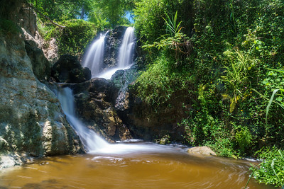 Picturesque waterfall at the enchanting Fairy Stream (Suoi Tien).