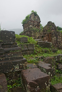 The temple ruins in My Son Sanctuary, Vietnam