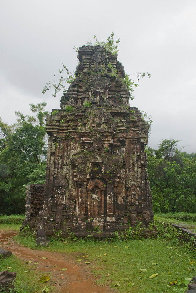 Ruined Hindu temple in My Son Sanctuary, Vietnam