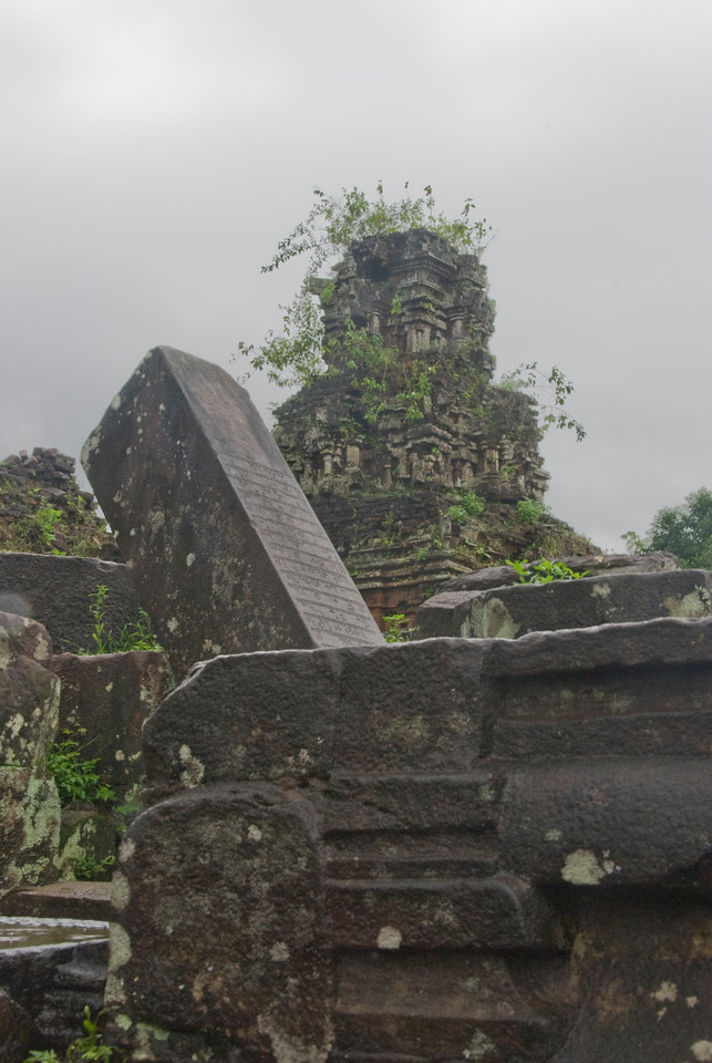 The ruined temples in My Son Sanctuary - Vietnam