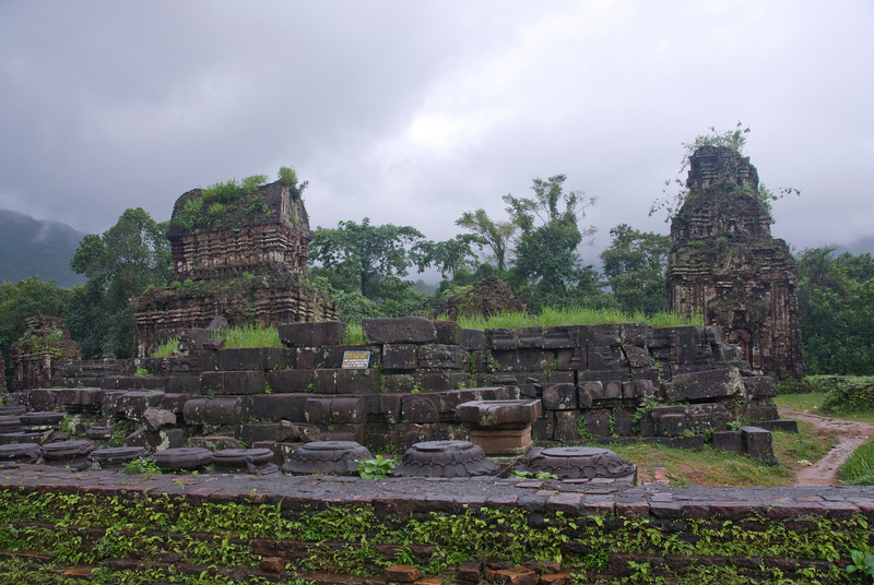 Part of the ruins in My Son Sanctuary, Vietnam