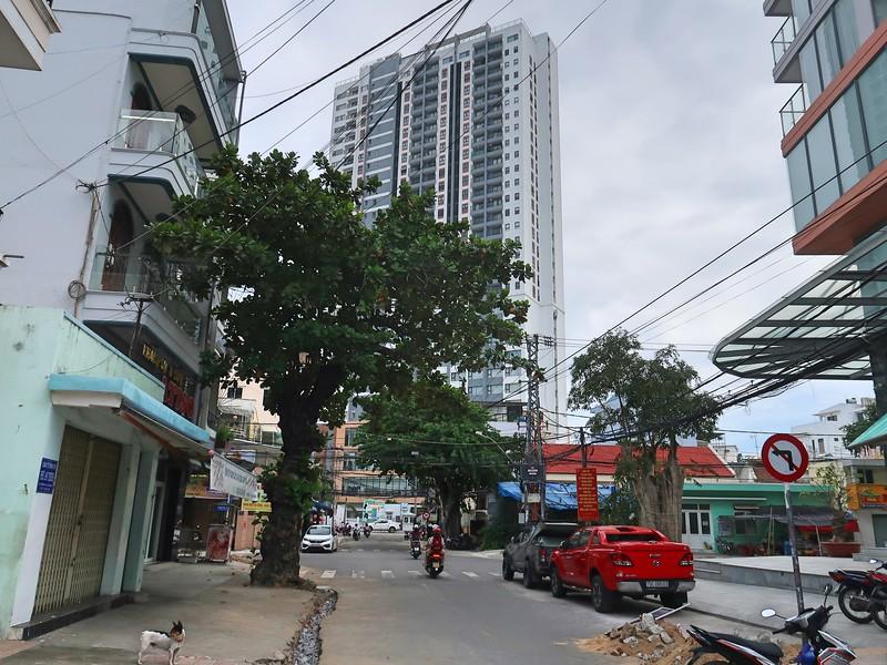 Marina Suites viewed from Phuong Cau
