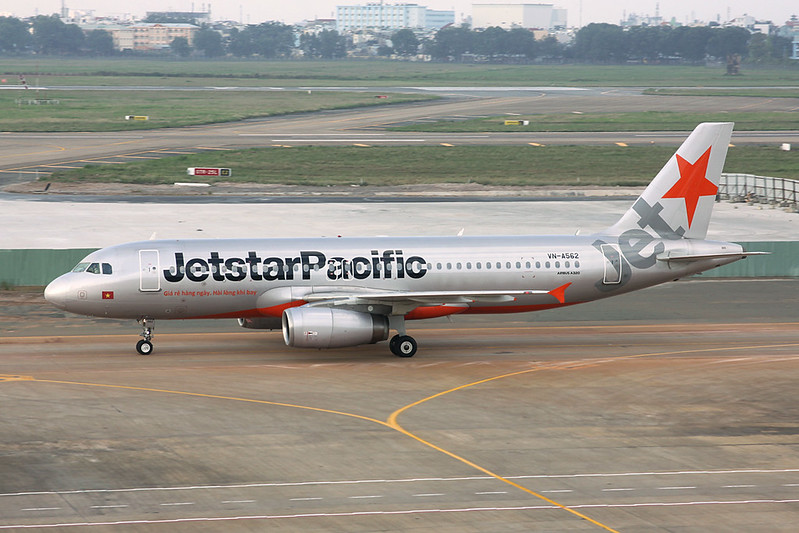 """VN-A562 Airbus A320-232 """"Jetstar Pacific"""" c/n 4533 Ho Chi Minh City/VVTS/SGN 08-12-17"""