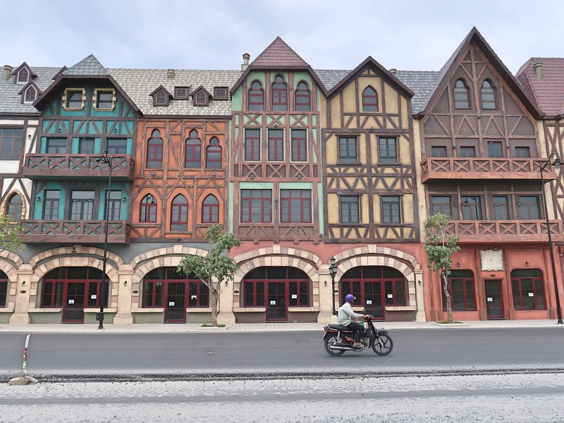 Half-timbered shophouses
