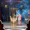 Incense and candles at a Chinese pagoda