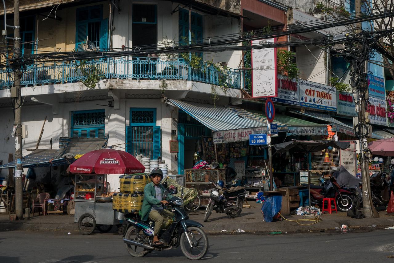 Interesting street corner in Cholon district.