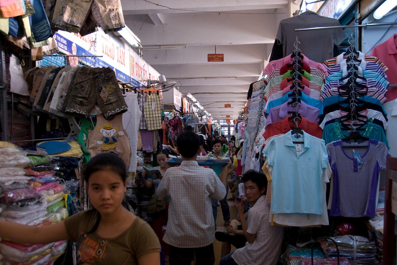 Clothes on display at Hong Kong Market - Saigon, Vietnam
