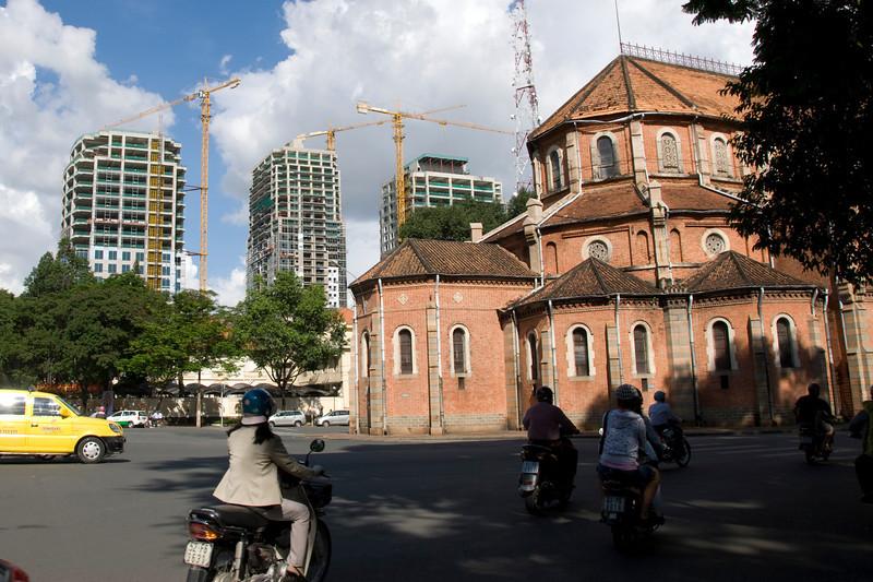 High rise construction in Saigon, Vietnam