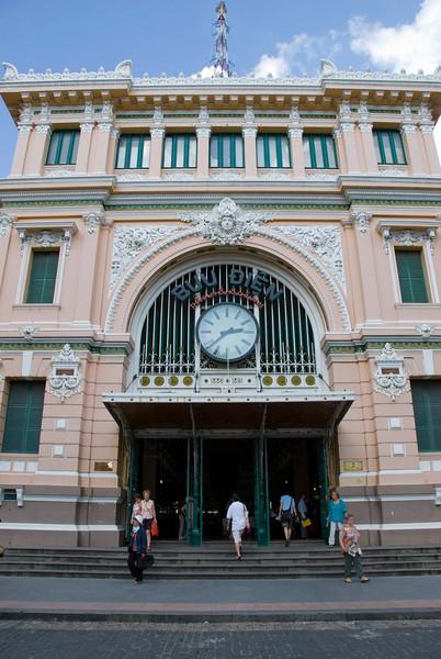 The Post Office facade in Saigon, Vietnam