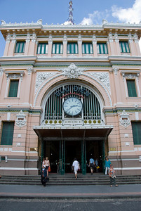 The Post Office facade in Saigon, Vietnam
