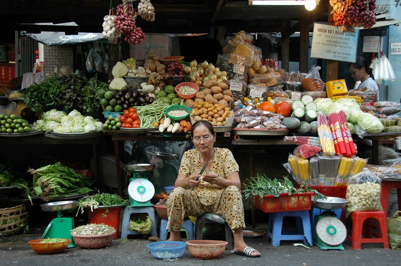 Vegetables at the Market - Ho Chi Minh City, Vietnam