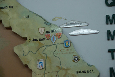 Wall Map on display at War Relics Museum - Saigon, Vietnam