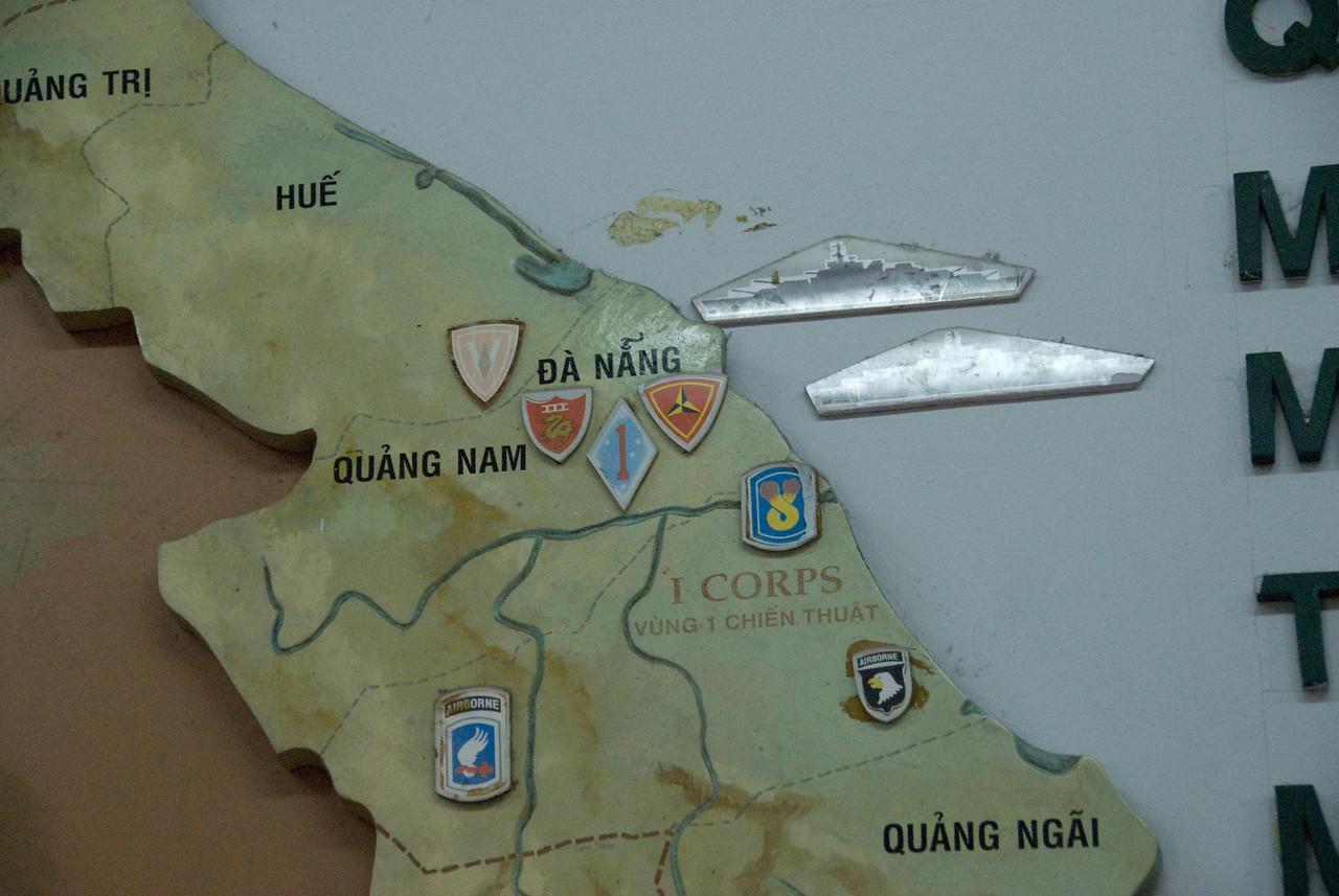Wall Map on display at War Relics Museum - Saigon, Vietnam