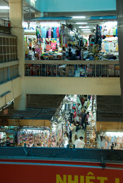 Vendor stalls in Hong Kong Market in Saigon, Vietnam