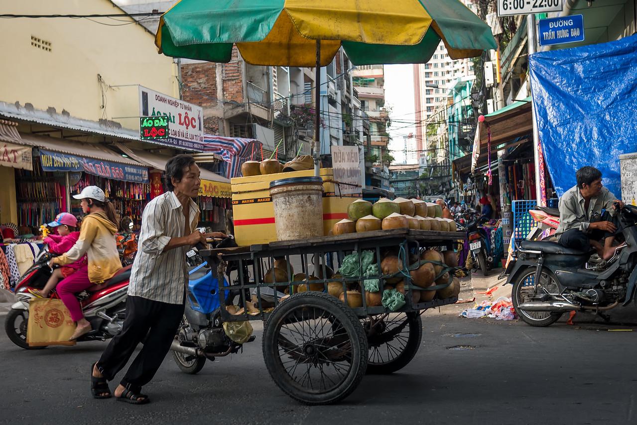 Coconut vendor!
